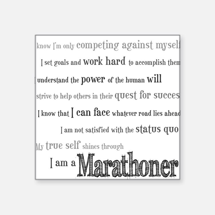 I Am a Marathoner Rectangle Sticker
