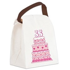 33rd Anniversary Cake Canvas Lunch Bag