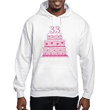 33rd Anniversary Cake Hoodie