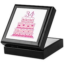 34th Anniversary Cake Keepsake Box
