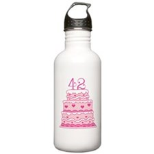 42nd Anniversary Cake Water Bottle