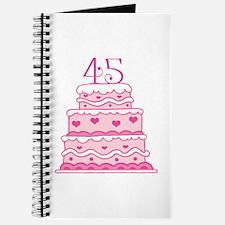 45th Anniversary Cake Journal