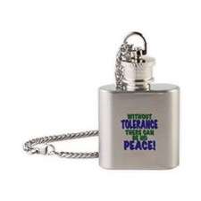 without tolerance no peace, t shirts, gifts Flask