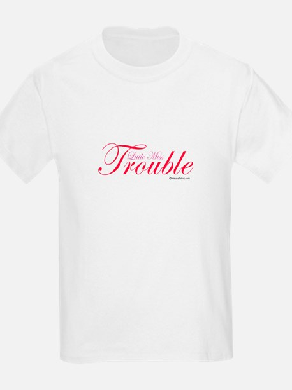 Little Miss Trouble Kids T-Shirt