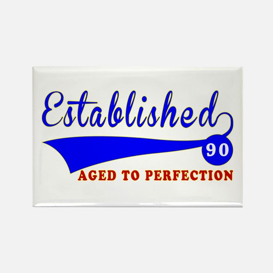 90 Birthday Designs Rectangle Magnet