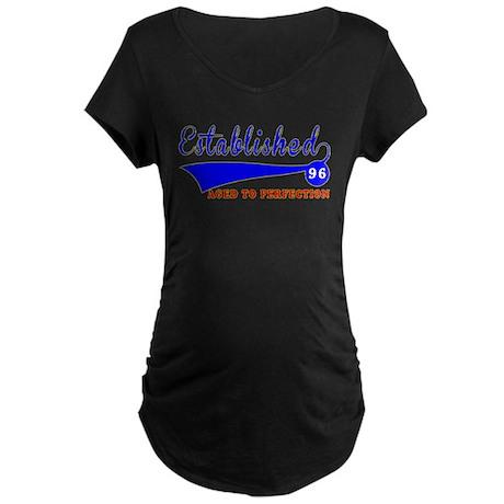 96 Birthday Designs Maternity Dark T-Shirt