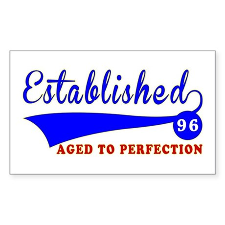 96 Birthday Designs Sticker (Rectangle)
