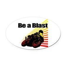 Motorcycle 2 Oval Car Magnet