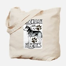 Siberian Huskies Tote Bag