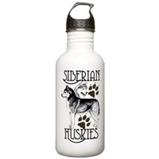 Siberian Huskies Water Bottle