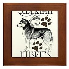 Siberian Huskies Framed Tile