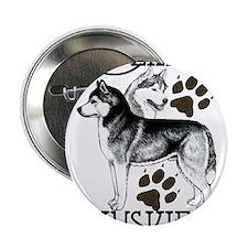 """Siberian Huskies 2.25"""" Button"""