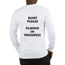 QUIET PLEASE (back) Long Sleeve T-Shirt