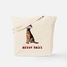 German Shepherd Christmas Tote Bag