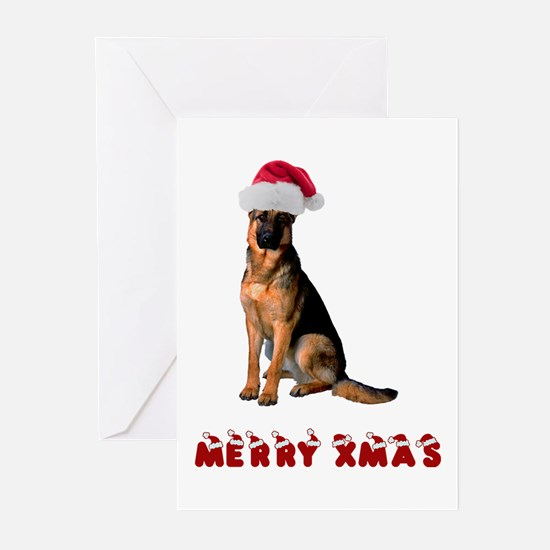 German Shepherd Christmas Greeting Cards (Pk of 10