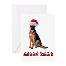German Shepherd Christmas Greeting Cards (Pk of 20