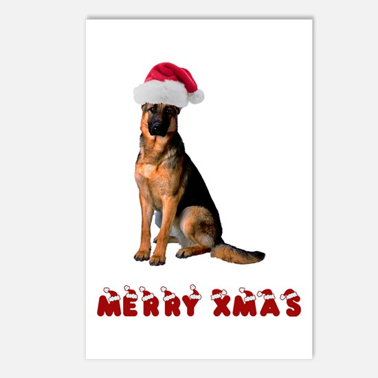 German Shepherd Christmas Postcards (Package of 8)