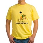 Beer Frame Bowling Yellow T-Shirt