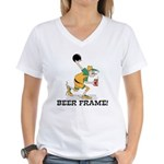 Beer Frame Bowling Women's V-Neck T-Shirt