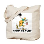 Beer Frame Bowling Tote Bag
