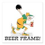 Beer Frame Bowling Square Car Magnet 3