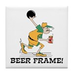 Beer Frame Bowling Tile Coaster