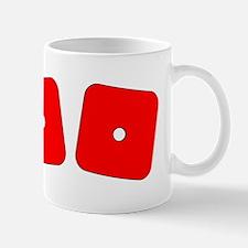 Red Dice Snake Eyes Mug