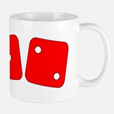 Red Dice One Two Mug