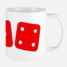 Red Dice One Four Mug