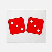 Red Dice Three Three Throw Blanket