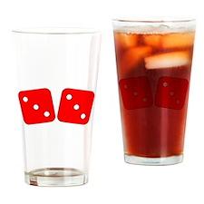 Red Dice Three Three Drinking Glass