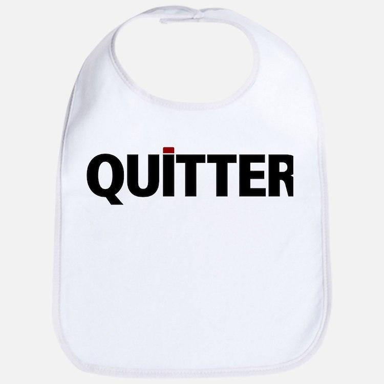 QUITTER Bib
