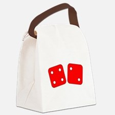 Red Dice Four Two Canvas Lunch Bag