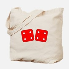 Red Dice Four Four Tote Bag