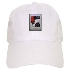 cat poster upside down Baseball Baseball Cap