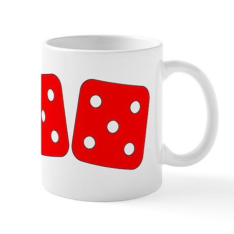 Red Dice Five Five Mug