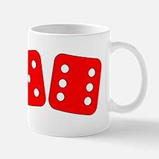 Red Dice Five Six Mug