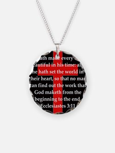 Ecclesiastes 3-11 Necklace