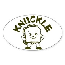 Knuckle Sandwich! Oval Stickers