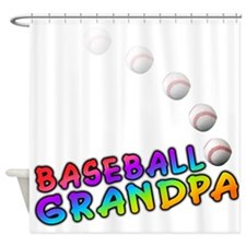 BASEBALL Grandpa Shower Curtain