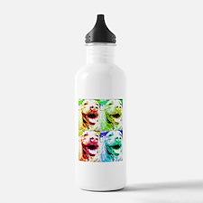 I Love Pitbulls Water Bottle