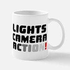 LIGHTS CAMERA ACTION! V Small Mug