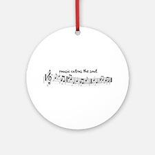 music calms the soul Ornament (Round)