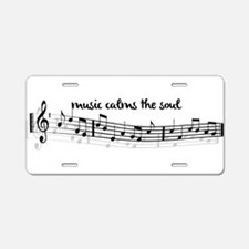 music calms the soul Aluminum License Plate
