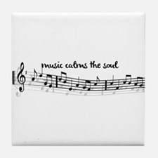 music calms the soul Tile Coaster
