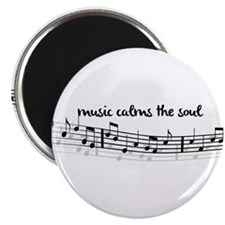 """music calms the soul 2.25"""" Magnet (10 pack)"""