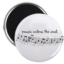 music calms the soul Magnet