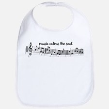 music calms the soul Bib