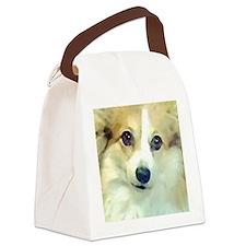Pembroke Corgi Face Canvas Lunch Bag