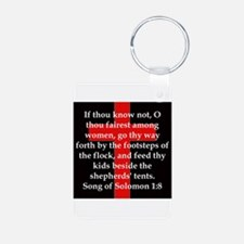 Song of Solomon 1:8 Keychains